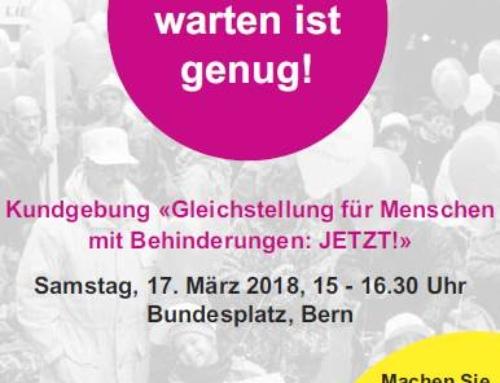 """Kundgebung """"Gleichstellung für Menschen mit Behinderung: Jetzt!"""""""