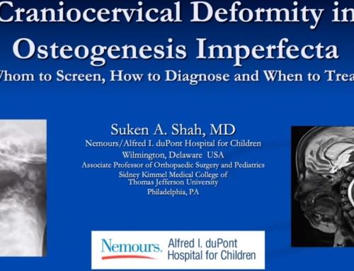 Videovorlesung – Craniocervical Deformity in OI mit Suken A. Shah, MD